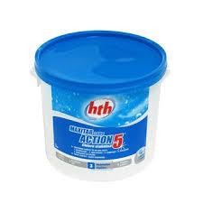 Action 5 en galets, chlore lent pour traitement quotidien de la piscine